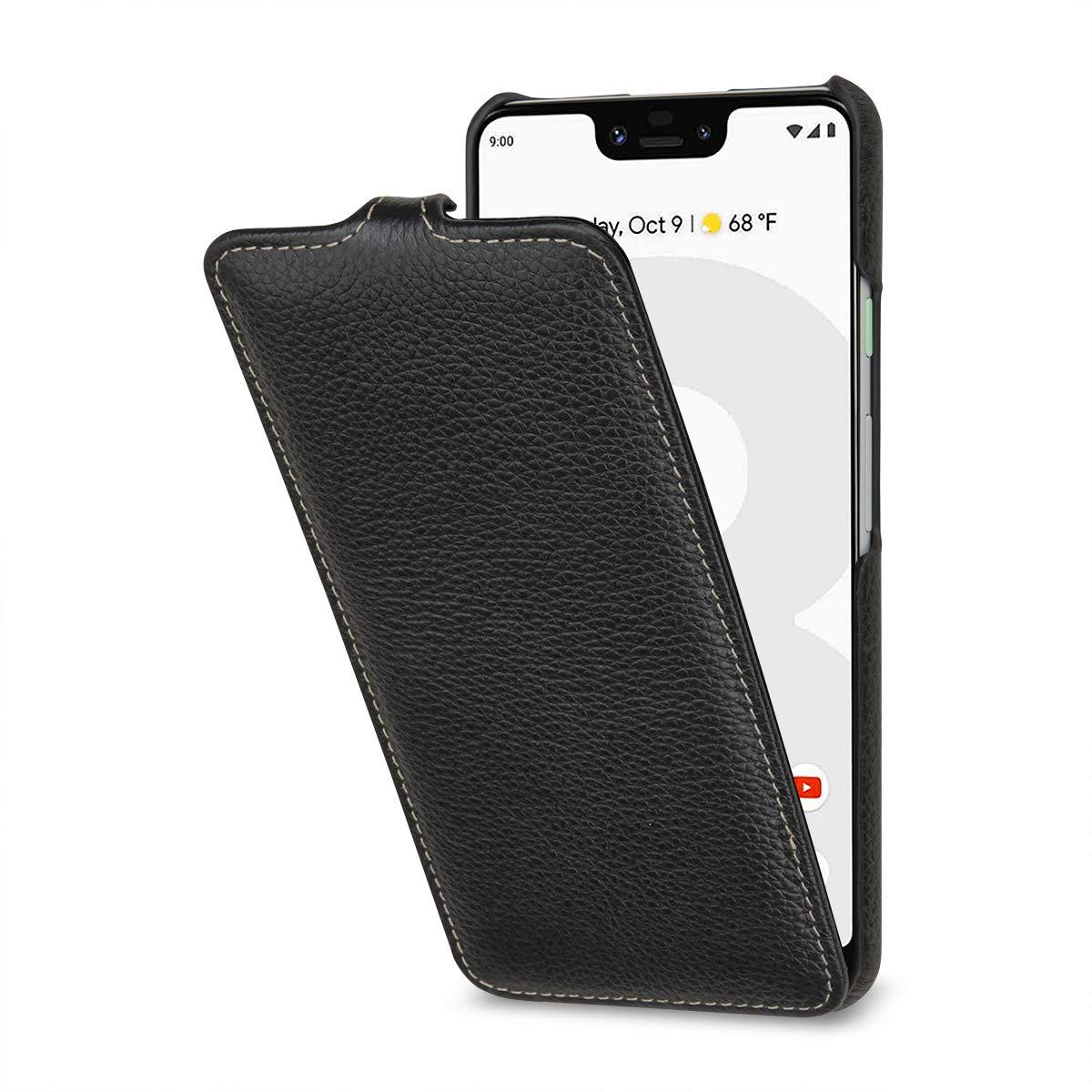 first rate 6e962 b15dd StilGut UltraSlim Google Pixel 3 XL Case. Vertical Flip Case for Google  Pixel 3XL Made of Genuine Leather, Black