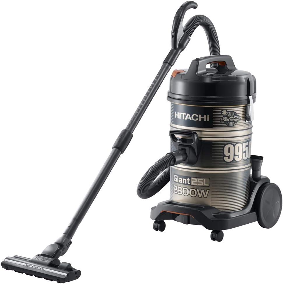 Hitachi CV-995DC Vacuum Cleaner 2300 Watt Drum 6 Liters - Black