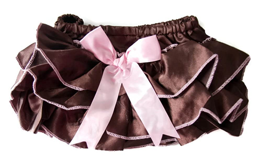 Addison's Anthem Brown and Pink Ruffle Bottoms