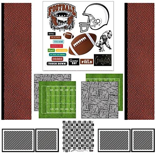 Scrapbook Customs Themed Paper Scrapbook Kit, Football Sport Paper