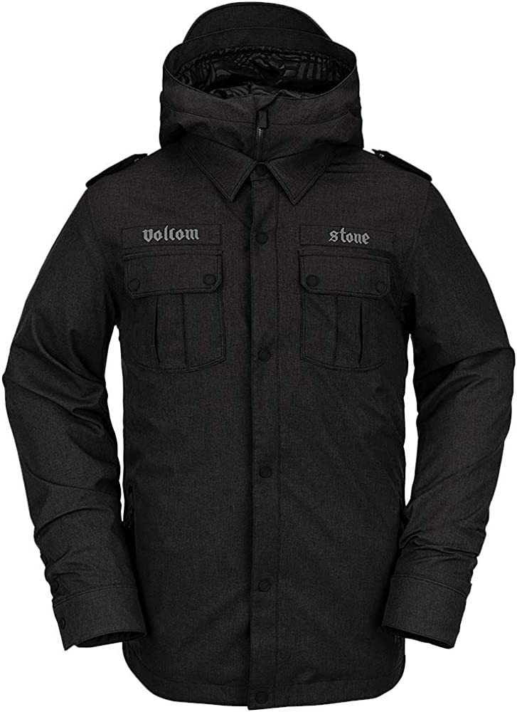 Volcom mens Creedle2stone Military Style Snow Jacket: Clothing