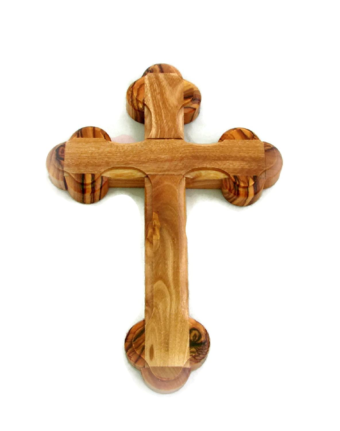 Olive Wood 14 Stations Wall Cross 5.5 14 cm - Handcrafted in Bethlehem HolyRoses