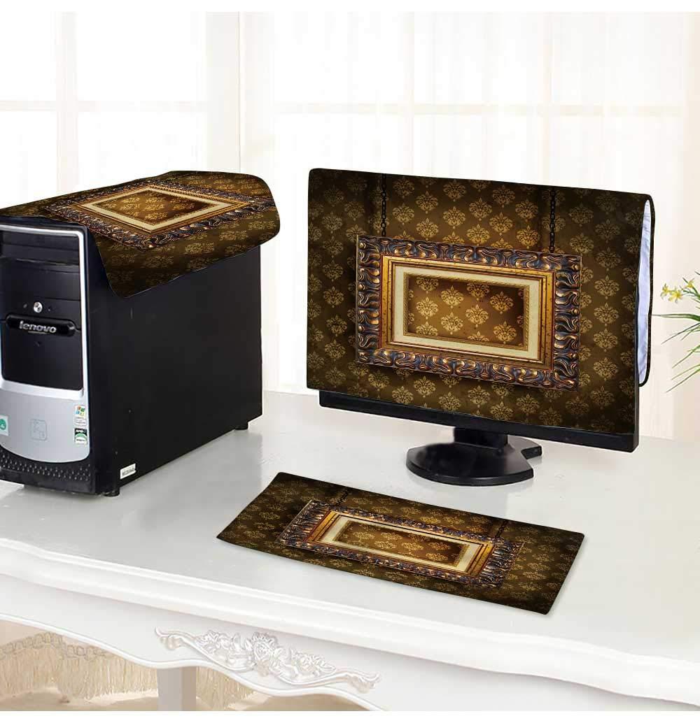 PRUNUS コンピューターダストカバー 美しいトロピカルなスイミングプールダストカバー 3点セット 17インチ W22