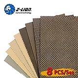Z-Lion Diamond Electroplated Resin Abrasive Paper Sheets Diamond Sandpaper for Grinding Stone Glass Ceramic Diamond Tool(8pcs/set)