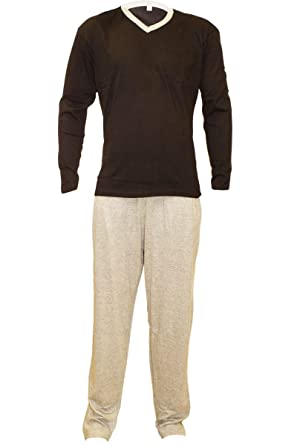 9494078a0c754 Herren Pyjama Schlafanzug lang Nachtwäsche Schlaf Anzug Schwarz M L XL XXL   141512 ☆ (