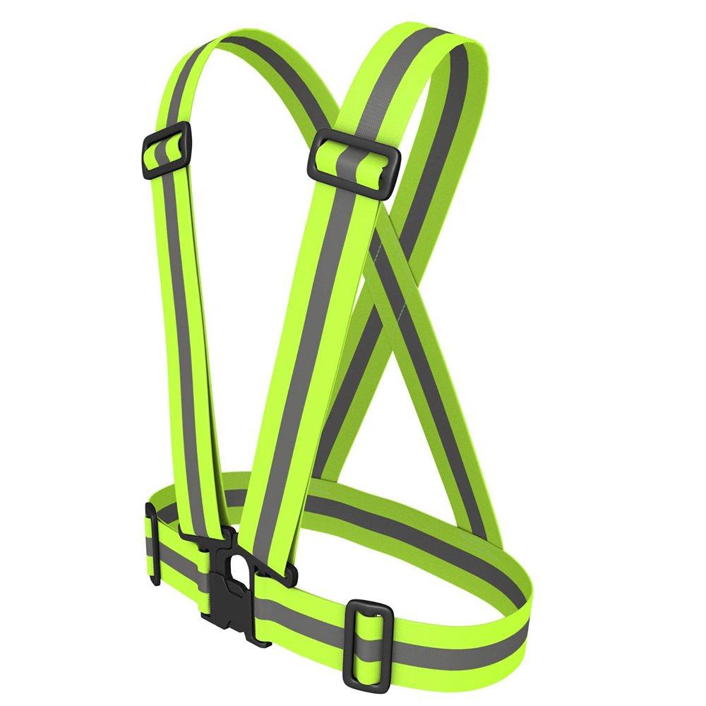AGPtek Alta Calidad- Arn/és Chaleco Reflectante de Material El/ástico y Impermeable /&nda Alta visibilidad para Seguridad de D/ía y Noche Cuando Correr Caminar o en Bicicleta en Moto para Hacer Deportes Ajustable -Ligero