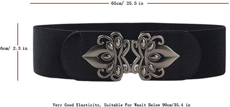 95d3569a47d Women s Elastic Wide Stretchy Vintage Waist Belt Waistband For Dresses 3  Pack. Swtddy Women s Elastic Stretch Wide Vintage Waist Belt Waistband ...