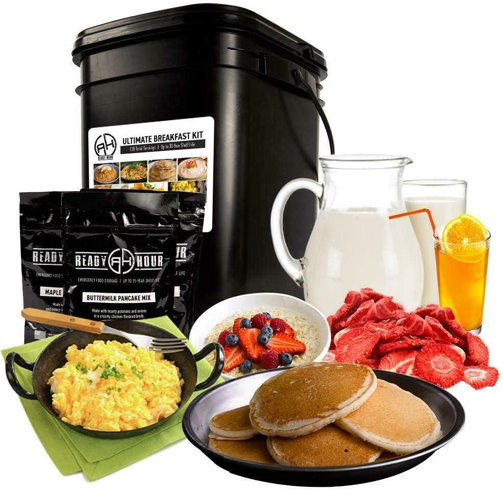 Patriot Pantry Ultimate Breakfast Kit Emergency Food Supply 140 Servings by Ready Hour
