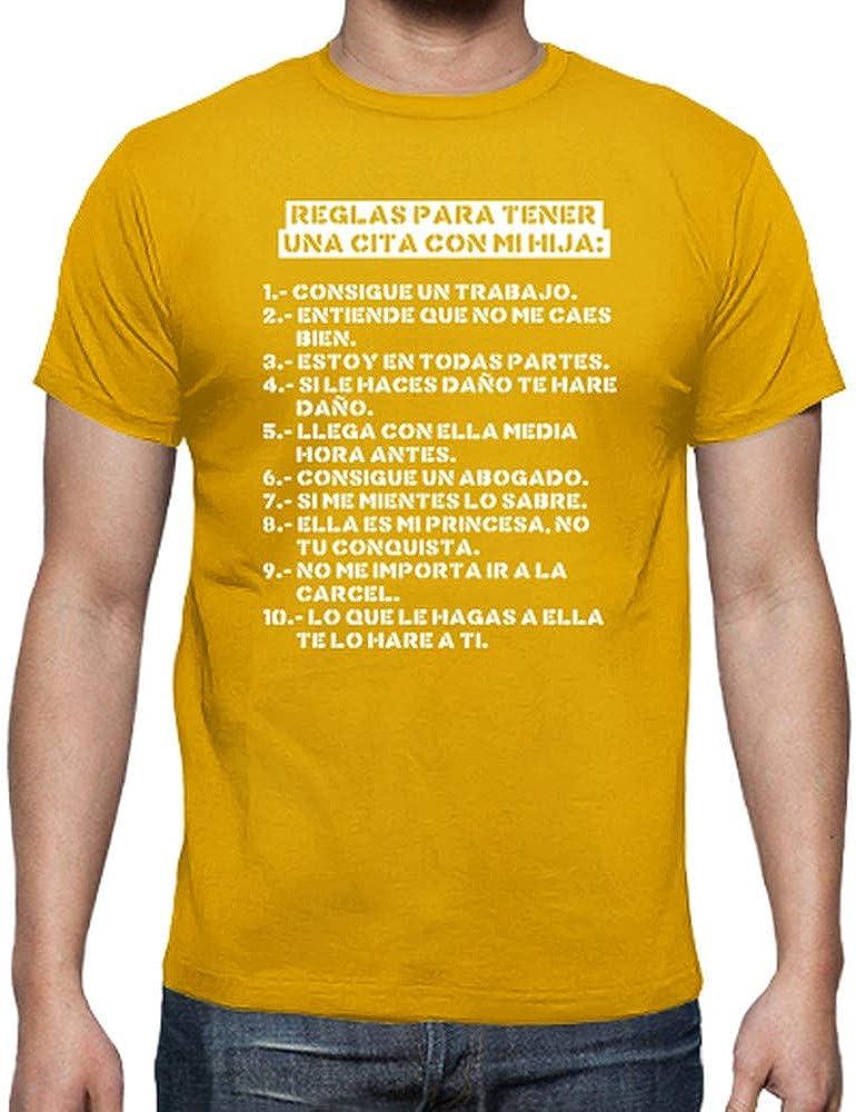 latostadora Camiseta Reglas para Tener una Cita con mi Hija (Oscura) - Camiseta Hombre clásica: jjgn: Amazon.es: Ropa y accesorios