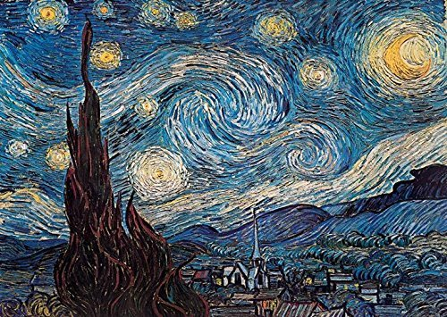 Buyartforless Starry Night by Vincent Van Gogh 36x24 Museum Master Art Print Poster Famous Painting