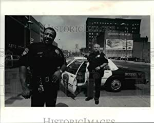 Historic Images - 1991 Press Photo Canton Police Officers William Henderson and James Sells