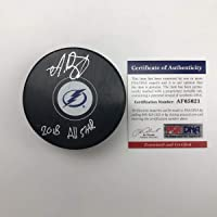 $64 » Autographed/Signed Andrei Vasilevskiy 2018 All-Star Tampa Bay Lightning Logo Hockey Puck PSA/DNA COA