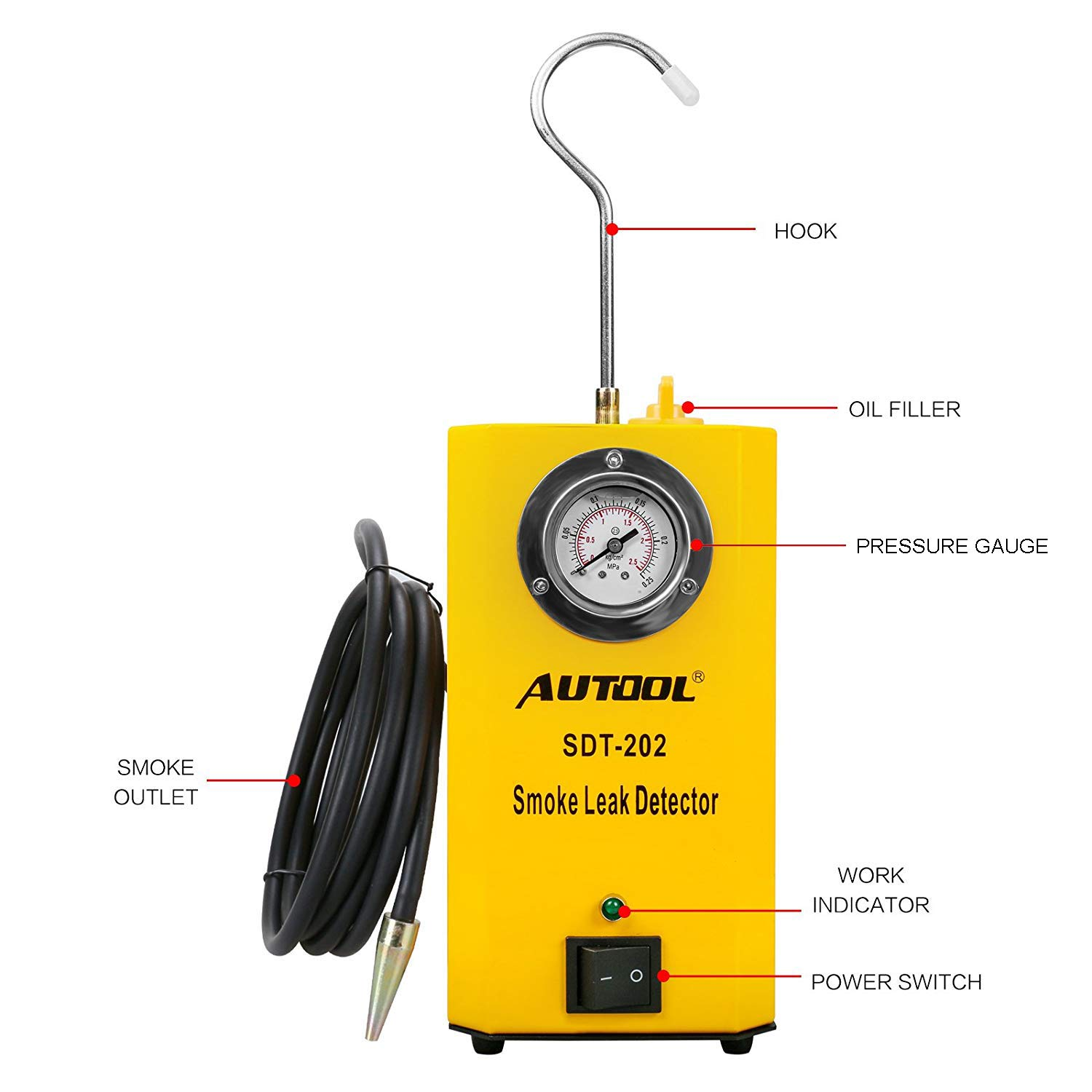 AUTOOL SDT 202 12V Automotive Fuel Leak Detectors with Pressure Gauge by AUTOOL (Image #1)