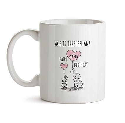 45th Happy Birthday Gift Mug