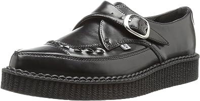 T.U.K. Shoes A8520 Unisex Black Leather