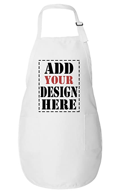 Personalized Aprons For Women Men Add Your Logo Design Photo Text Custom Apron With Pockets