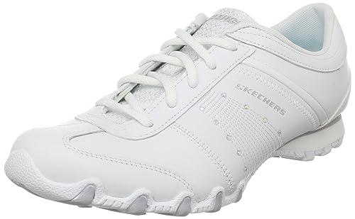 Skechers - Zapatillas para Mujer Blanco Blanco: Amazon.es: Zapatos y complementos