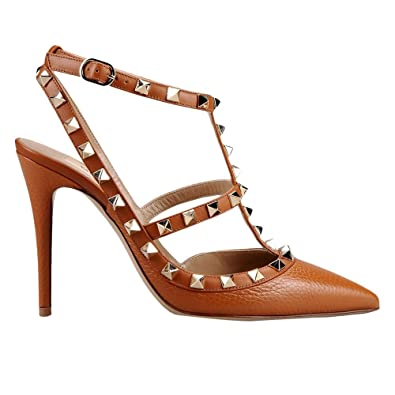 Amazon Com Womens Valentino Garavani Rockstud Ankle Heeled Shoes