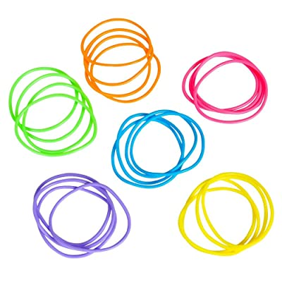Fun Express Neon Jelly Bracelets 288 Pieces: Toys & Games