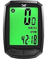 サイクルコンピューター 自転車コンピューター サイクルメーター ケイデンス ワイヤレス 防水 多機能 簡単取付 バックライト 走行距離計 走行時間計 ブラック