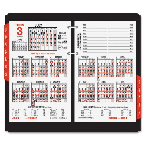 AT-A-GLANCE E71250 Burkhart's Day Counter Desk Calendar Refill, 4 1/2 x 7 3/8, White, 2016