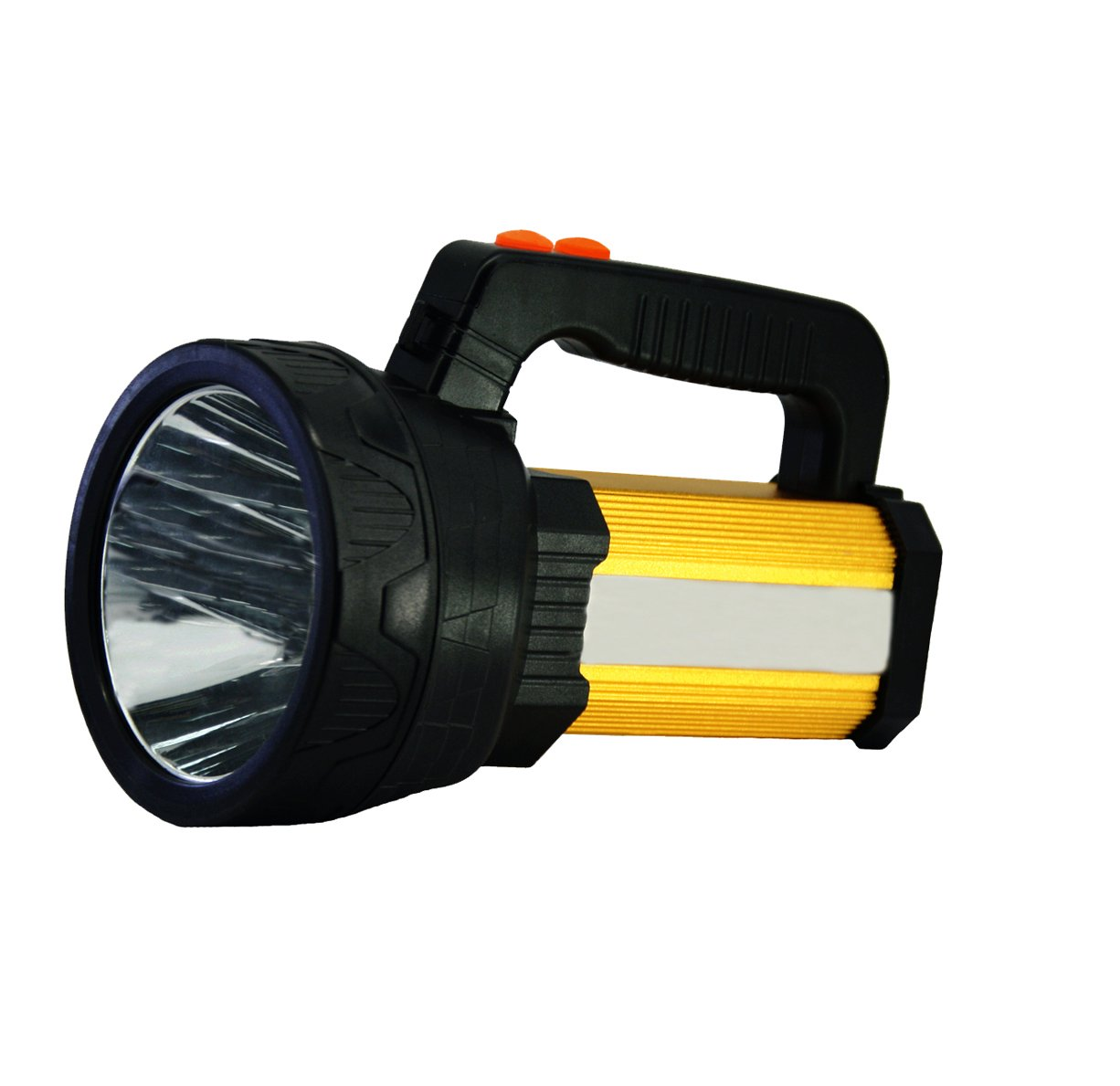 LED Rechargeable Handheld Searchlight,Super Bright 10000 LUMENS Outdoor Spotlight with 5 Light Model&8000mah Power bank (Black)