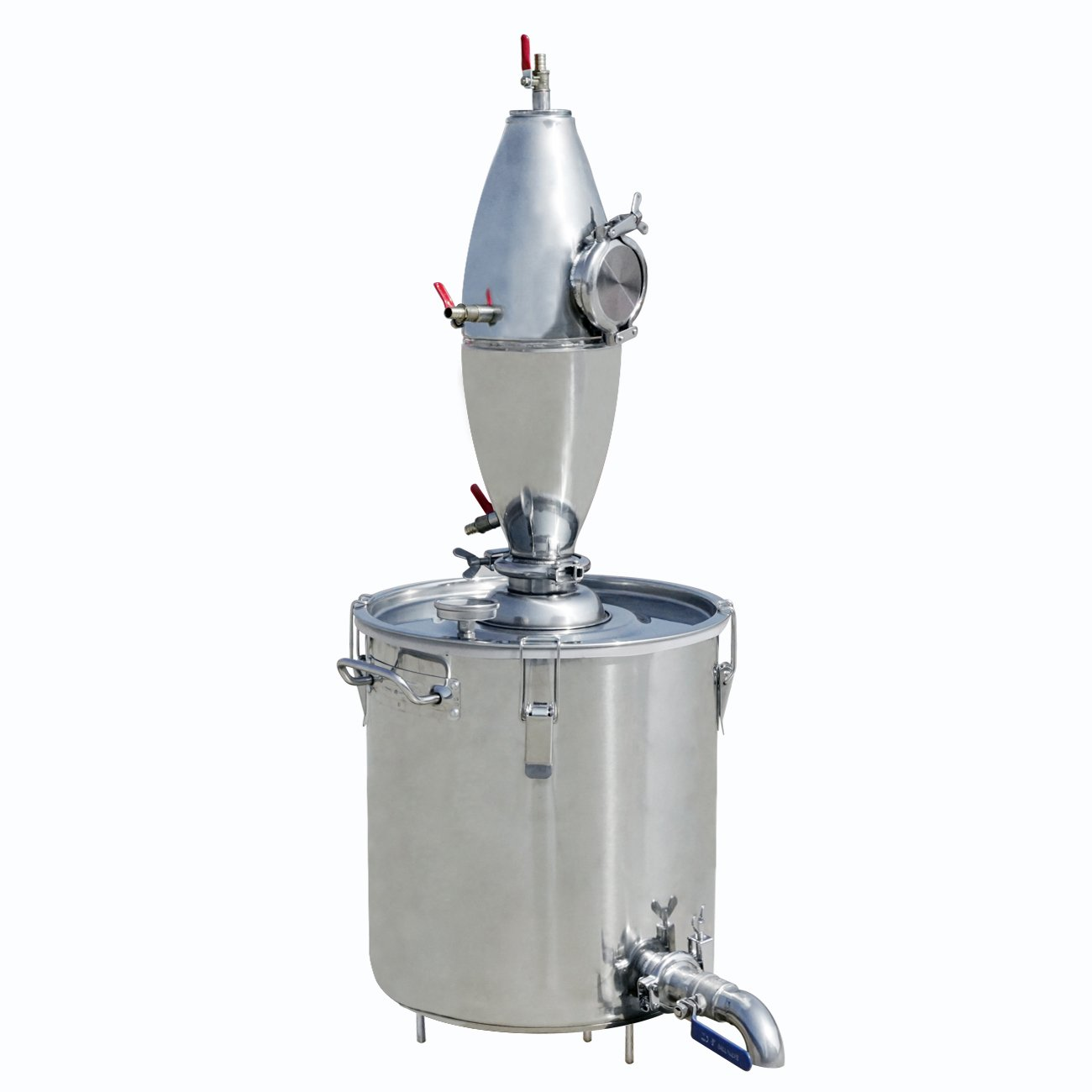 ECO-WORTHY 18.5Gal Water Alcohol Distiller 70L 304 Stainless Steel Alcohol Distiller Home Kit Moonshine Wine Making Boiler with Thermometer for Home Brewing (18.5Gal 70L Distiller)
