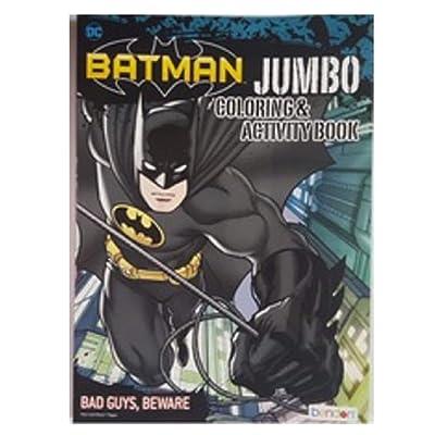 Batman 96P Jumbo Coloring and Activity Book - Bad Guys, Beware | Kids' Backpacks