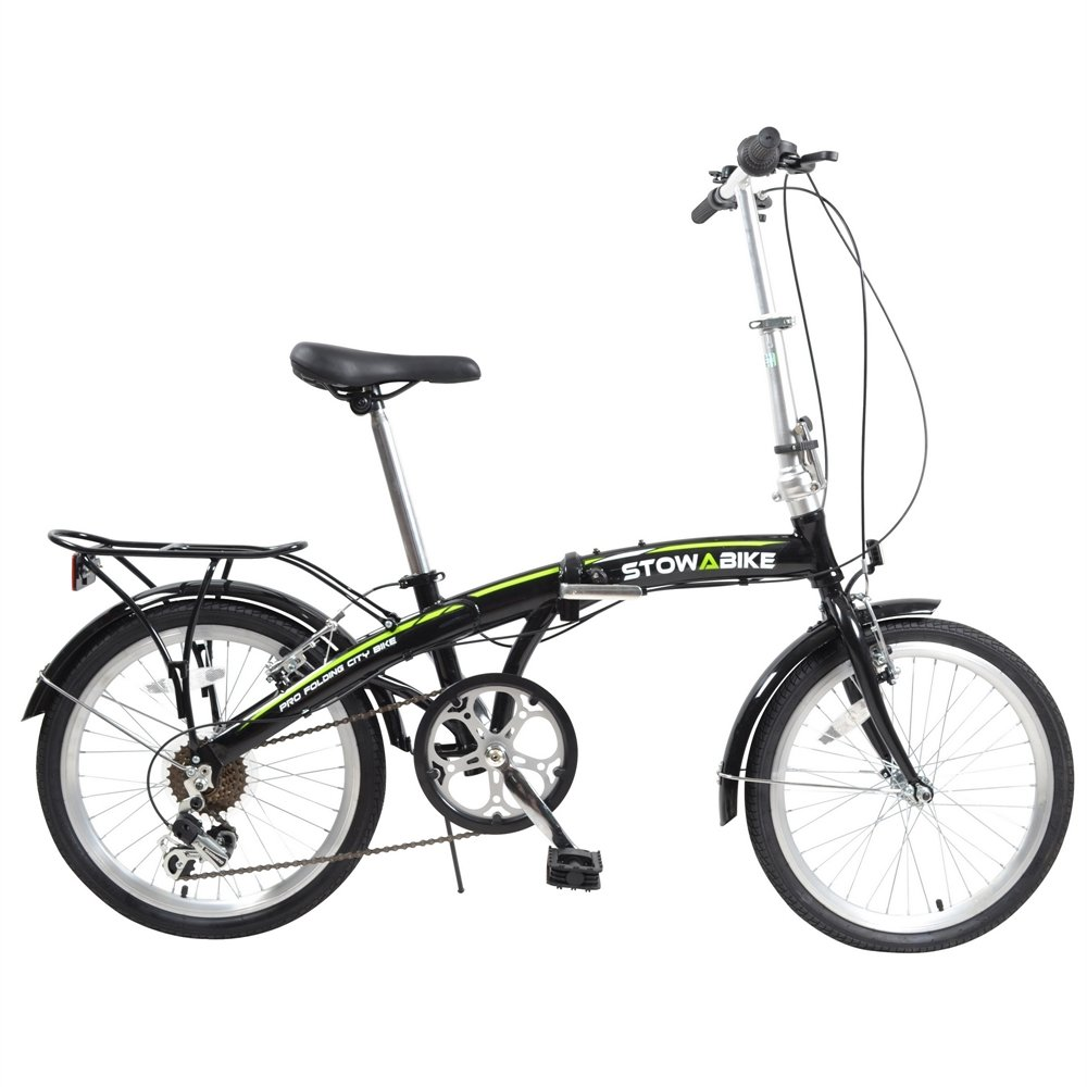 Stowabike 20 folding pro city compact foldable bike 6 speed shimano gears amazon co uk sports outdoors
