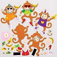 Baker Ross Aap Mix & Match Magneten (8 stuks) Knutselspullen en Knutselsets voor Kinderen