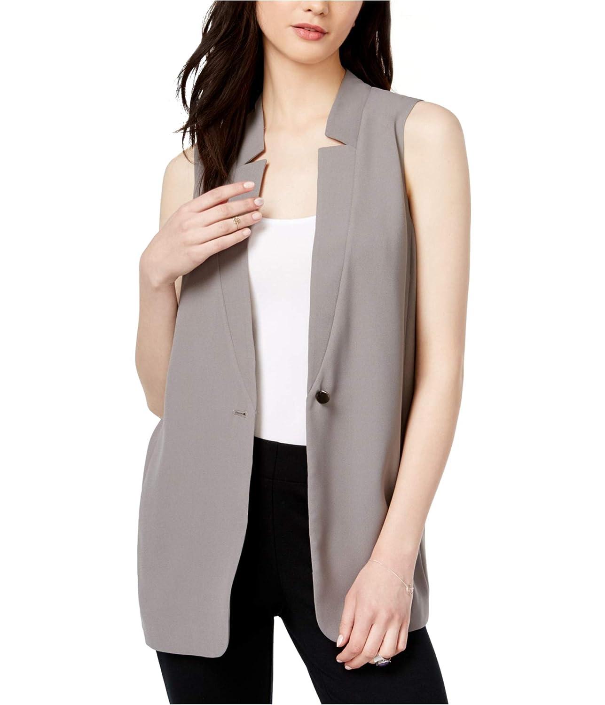 Bar III Womens Pleated Sweater Vest Grey M 90182B3