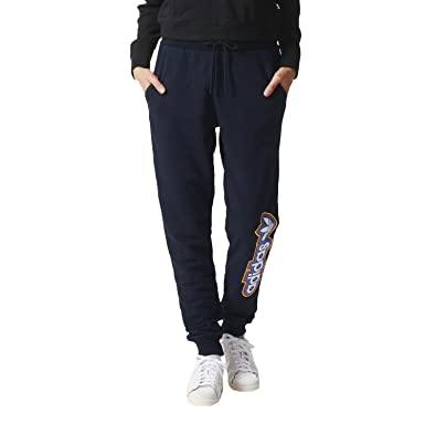 b438363422c0 adidas Originals Women s Cuffed Fleece Baggy Track Pants - Navy - 16UK