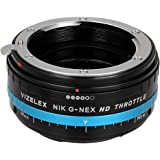 Vizelex ND Throttle Lens Adapter with Variable ND Filter ND2-ND1000, Nikon G, FX, DX Lens to Sony E-mount Camera