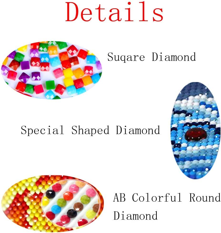 DIY Handwork Store 5D DIY Crystal Diamond Paintings Full Square Animals Otter Family Cross Stitch Kits Paint with Diamonds Embroidery Wall Stickers- 19.715.7
