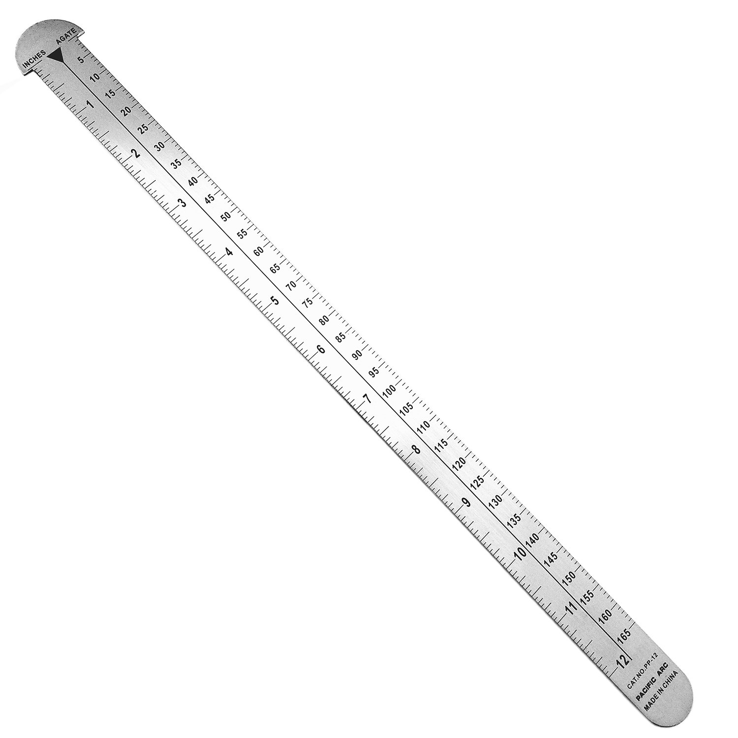 18'' Stainless Steel Pica Pole Ruler: INCH and PICAS