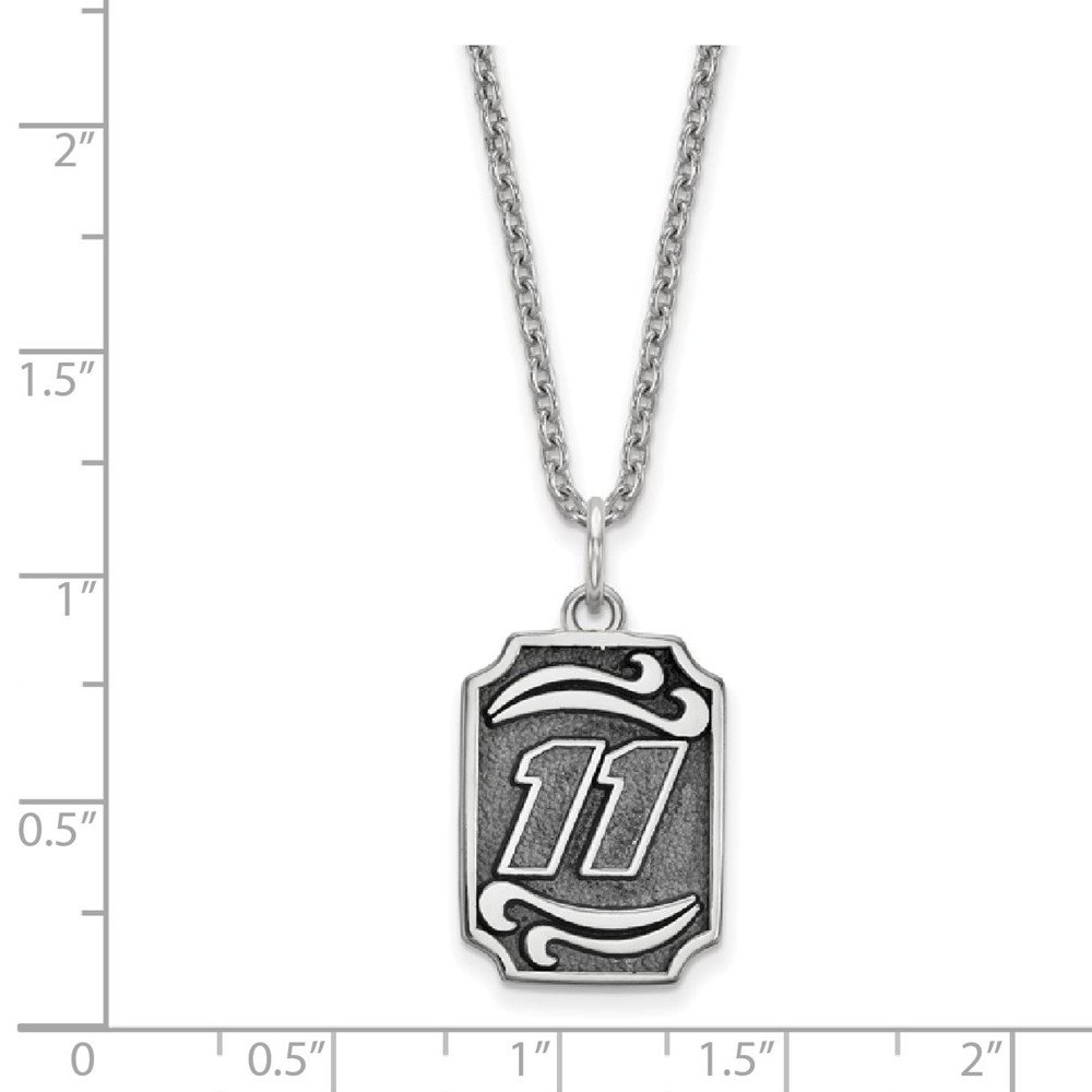 Sonia Jewels SS Bali Type Vertical Pendant 11 with 18 Silver Chain 14mm x 18mm