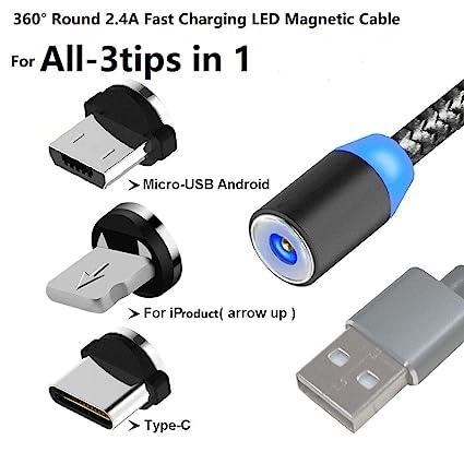 Amazon.com: TAiKOOL - Cable magnético para teléfono móvil ...