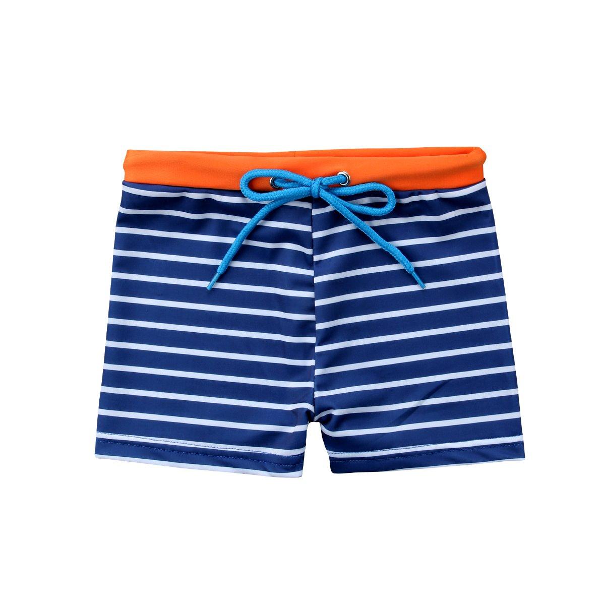 ITFABS Baby Boy Swim Trunks Cute Shark Swim Shorts Kids Boys Stripes Swimwear Bathing Suit Swimming Pants Beach Wear for Boys