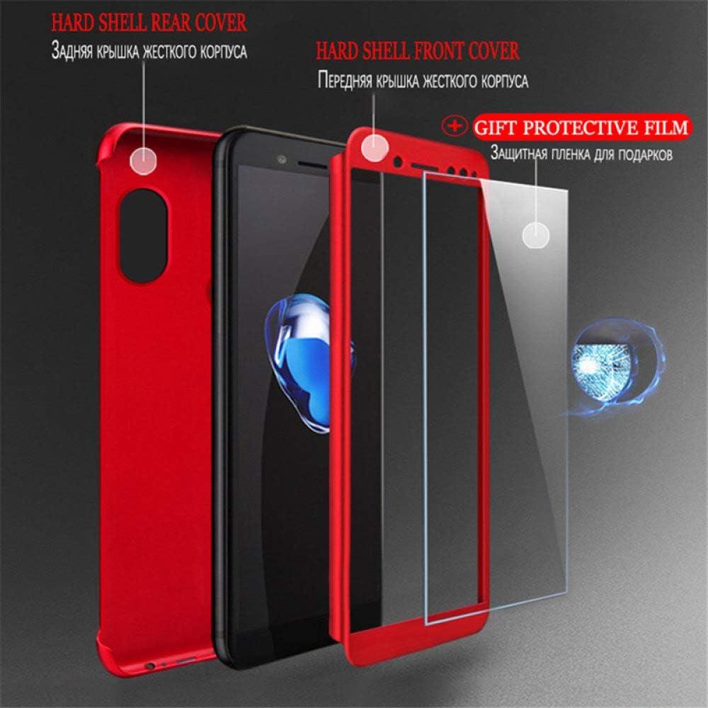 ZFLL Protezione dello Schermo 360 Phone Case for Xiaomi Mi 8 SE A1 A2 Lite Redmi 4X 4A 5A 5 Plus 6 PRO 6A Full Cover with Glass for Redmi Note 4X 5A-Xiaomi Mi 8 SE-Black