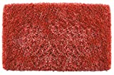 Casale Home Super Soft Microfiber 180x240cm Shag Rug with Non Skid Backing, Red, 5 x 8'