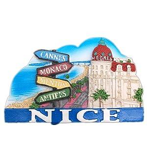 Negresco Nice France Fridge Magnet 3D Resin Handmade Craft Tourist Travel City Souvenir Collection Letter Refrigerator Sticker