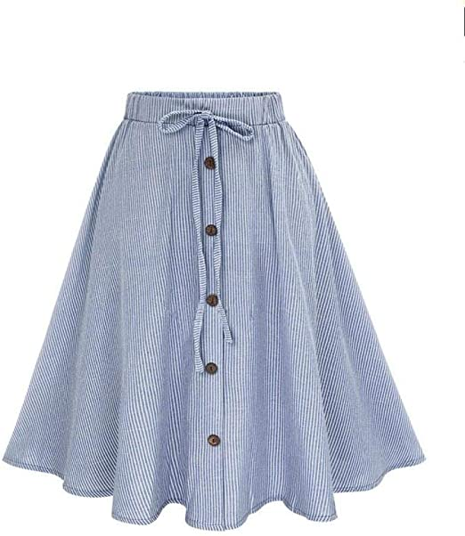 Goosun Faldas Midi para Mujer De Verano Encaje Cintura Alta Moda ...