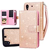 TabPow HTC Desire 530, 626, 626s Case, 10 Card Slot - ID Slot, Button Wallet Folio PU Leather Case Cover With Detachable Magnetic Hard Case For HTC Desire 530/ Desire 626/ Desire 626s - Rose Gold