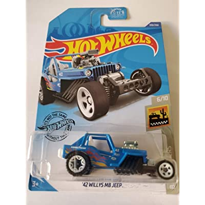 Hot Wheels 2020 Baja Blazers '42 Willys MB Jeep, Blue 139/250: Toys & Games