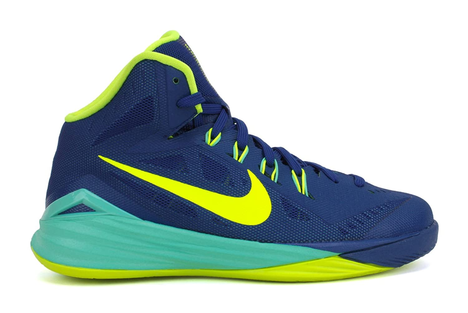 Amazon.com | Boy\u0027s Nike Hyperdunk 2014 Basketball Shoe Blue/Volt/Turquoise  Size 6 M US | Basketball