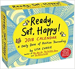 amazon ready set happy 2018 day to day calendar lisa currie