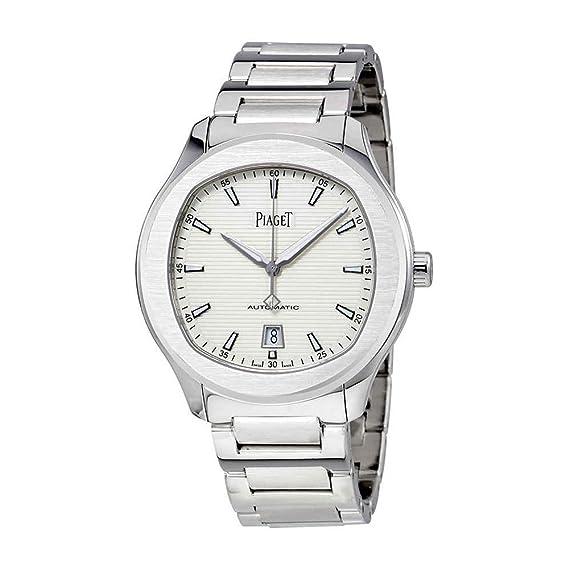 Piaget polo s plata Dial Automático Mens Reloj g0 a41001: Amazon.es: Relojes