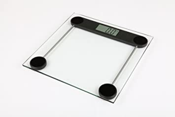 Kabalo 180kg Modern Glass Household Bathroom Scales - Premier Electronic Digital Personal Scale with Large LCD