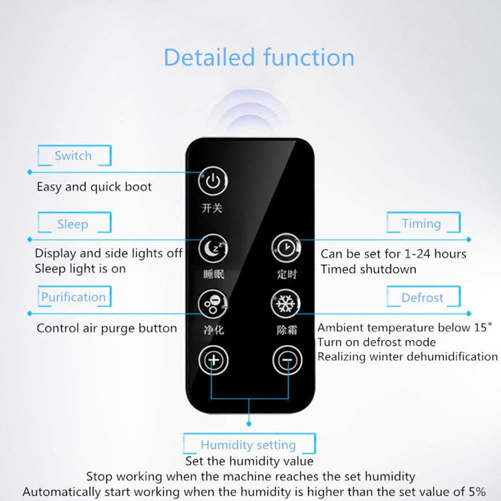 Deshumidificador De Aire para El Hogar con Control De Wi-Fi Pantalla LED con Sensor De Apagado Autom/ático Drenaje Continuo con Manguera OOFAT Deshumidificador