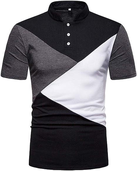 Camisa Hombre Camiseta Camisa de Solapa de Alto Grado de Costura ...